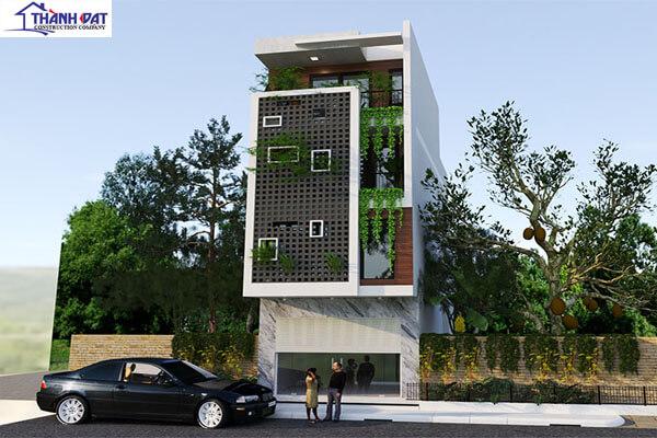 Thiết kế 3 tầng, 1 tum hiện đại
