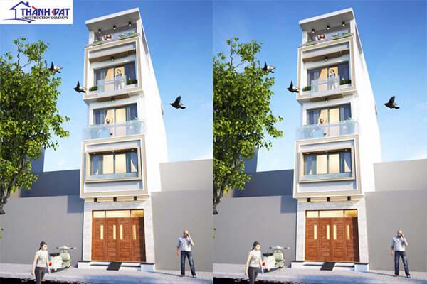 Thiết kế 4 tầng, 1 tum sang trọng