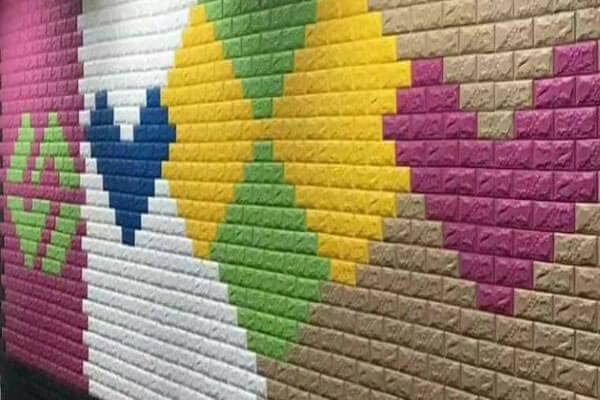 Xốp dán tường giả gạch với nhiều màu sắc đa dạng