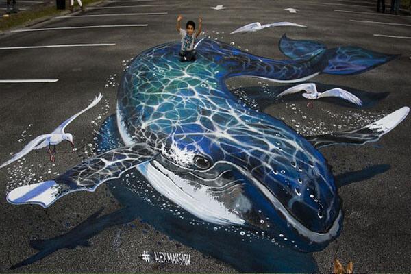 Tác phẩm mô tả cá voi sống động