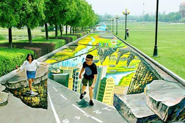 Tác phẩm được thiết kế ngay trong công viên
