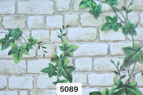 Xốp dán tường giả gạch in lá đơn giản, trang nhã
